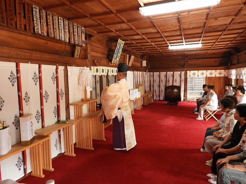 2018年(平成30年)7月 敬神婦人会 椅子奉納式